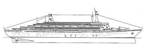 TS EUGENIO C - Cruise ship drawings