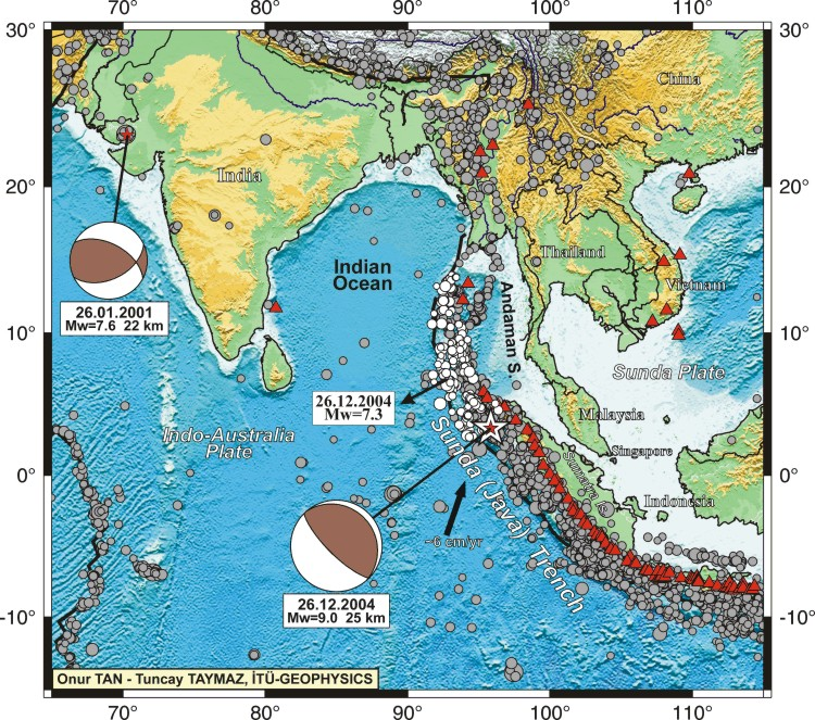 december 2004 earhquake in northern sumatra The december 26, 2004 sumatra-andaman earthquake and its ensuing  show  that the sumatran event swept across about 1300 km from northern sumatra to.